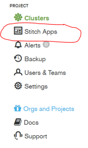 Stitch Application Selection