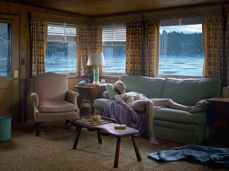 CREWD 2014.Reclining Woman on Sofa
