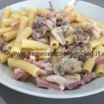 Ricetta pasta risottata panna, pancetta e funghi Kenwood
