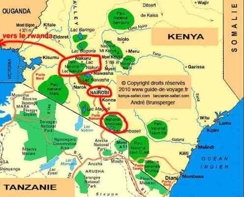 Circuit safari Kenya plus extension Gorilles Rwanda Ouganda