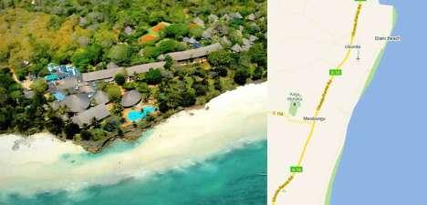 Kenya Diani beach hotel diving windsurfing.