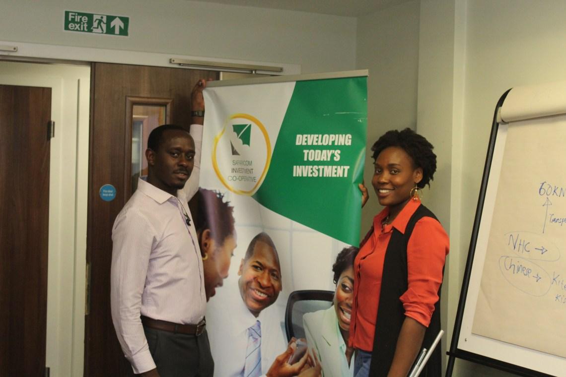 Mr Gichangi selling the Safaricom investment co-operative to the diaspora in London