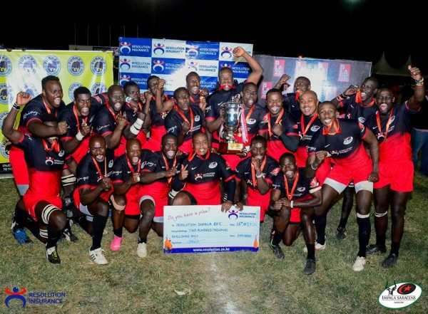 Impala celebrate their recent Floodies win/Photo/Impala Saracens