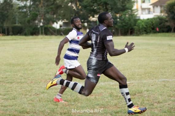 Collins Injera (with ball) previous action for Mwamba/Photo/Mwamba RFC
