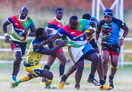 Action between Menengai Cream Homeboyz and SportPesa Quins at the Jamhuri Park on Saturday 14 January 2017