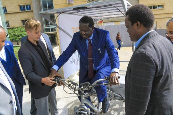 Raila Impresses Crowd as He Cycles