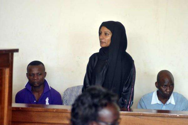 Ms Amina Shiraz Yakub at the Malindi High Court on October 11, 2016 to face charges of murdering her husband on July 26, 2015.