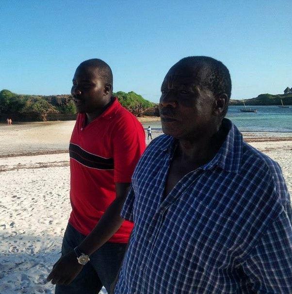Citizen TV anchor Willis Raburu and father Peter Raburu. Willis praised his father for his hard work.