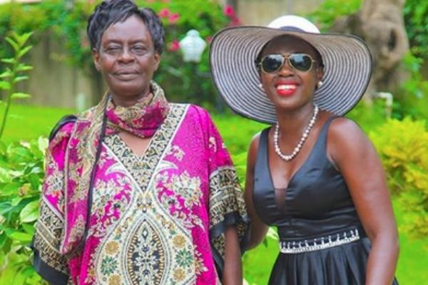 Akothee with her mother. On Thursday, November 7, the singer disclosed that her mother had landed a lucrative government job