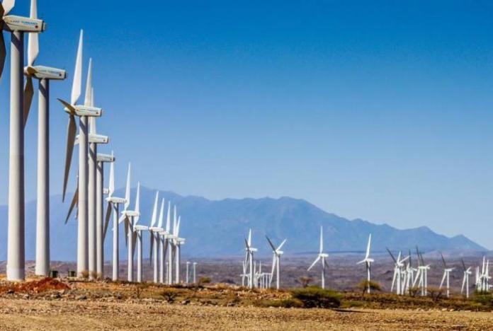 The Lake Turkana Wind Power farm in Loiyangalani District, Marsabit County