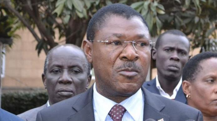 FORD Kenya leader Moses Wetangula who clashed with former Minister Noah Wekesa at a funeral on Saturday, December 21, 2019.