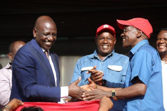 Deputy President William Ruto received former Kakamega Senator Boni Khalwale to Jubilee Party in May 2019