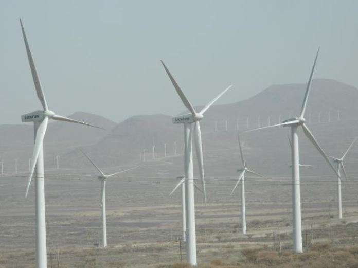 Some of the turbines at Lake Turkana Wind Power farm in Marsabit County.