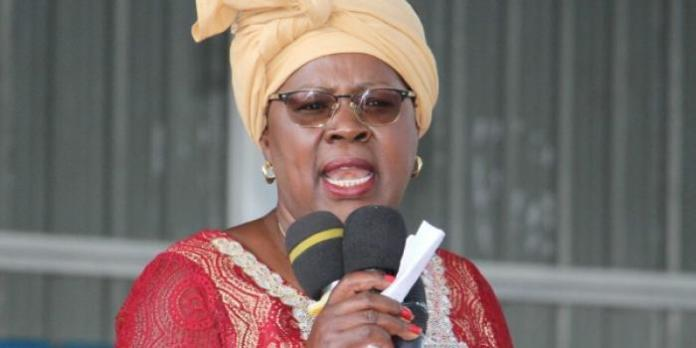 Kandara MP Alice Wahome pictured addressing a past rally