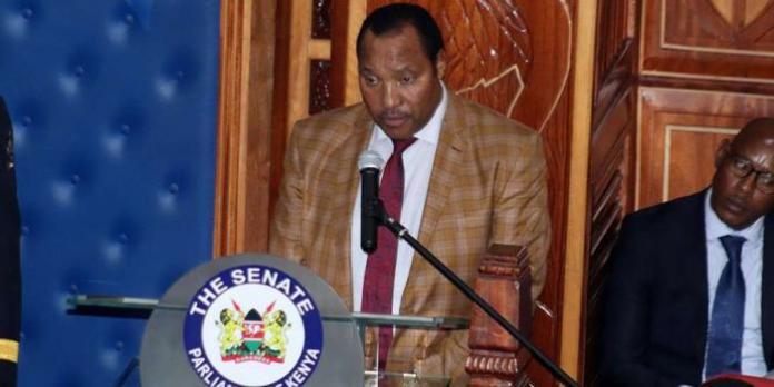 Kiambu Governor Ferdinand Waititu on the floor of the Senate on Monday, January 28