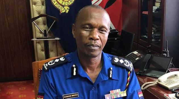 Deputy General of Police Edward Mbugua who announced changes within the Kenya Police Service on January 14, 2020