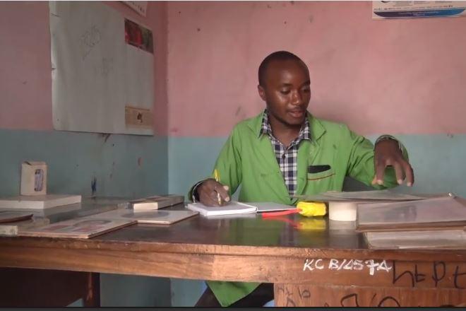 Charles Karanja in his office PHOTO|COURTESY
