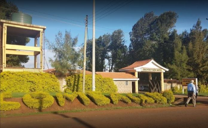 The entry to Countryview Hotel, Embu County