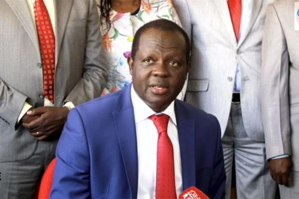 Jubilee Party Secretary-General Raphael Tuju during a press briefing on January 9, 2019