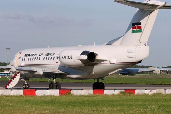 Presidential jet, Kenya's Fokker 70 ER executive jet.