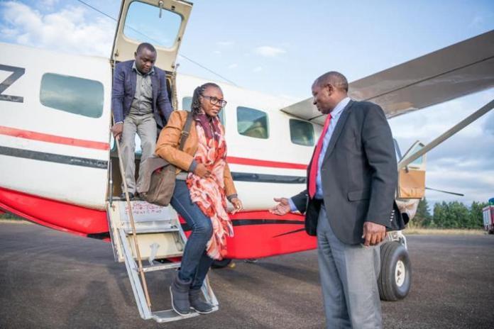 A past photo of Laikipia governor Ndiritu Muriithi and his wife Maria Mbeneka
