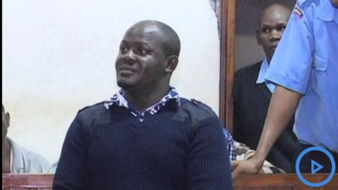 Changamwe Member of the County Assembly Bernad Ogutu appears before the court on May 23, 2019.