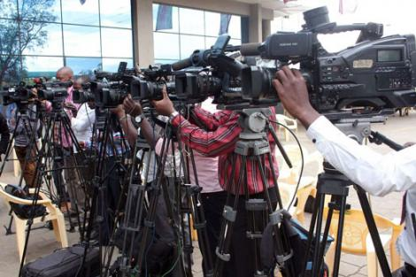 File image of Journalists covering a press conference