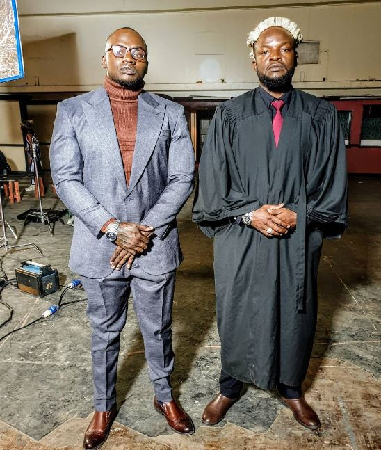 Singer Khaligraph Jones and his brother Lamaz Span who is also a rapper.
