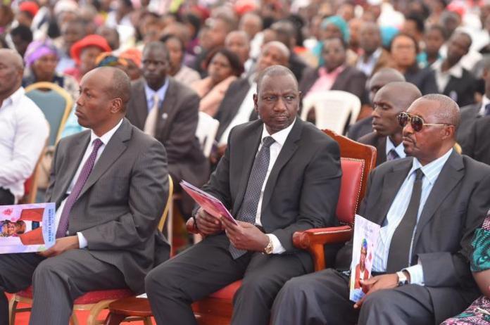 Deputy William Ruto pictured at the burial of Josephine Wambui Kimotho, mother to former Nakuru Mayor Samuel Mwangi in Lanet, Nakuru on February 26.