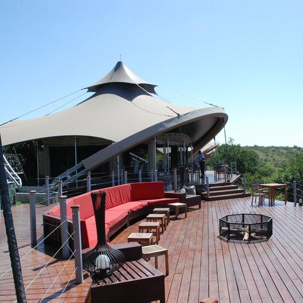 One of the 12 tents at the Mahali Mzuri Safari Camp.