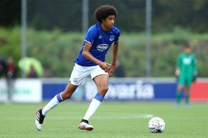 Tyler Onyango in action for Everton