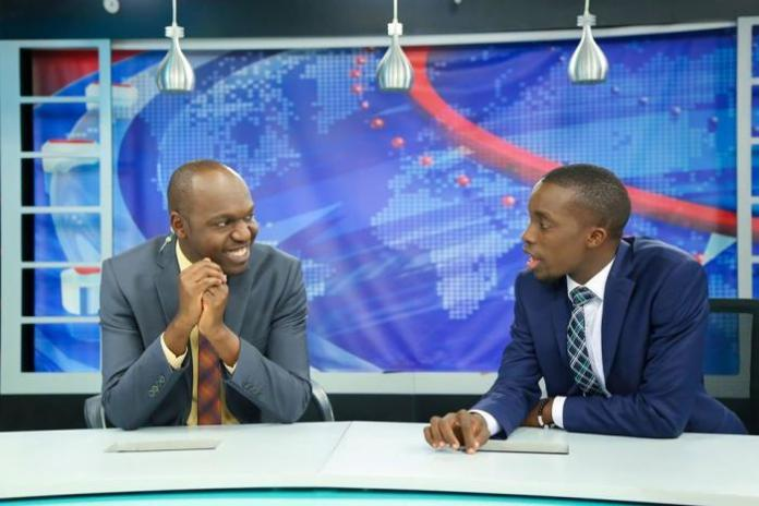 Larry Madowo (L) and Dr King