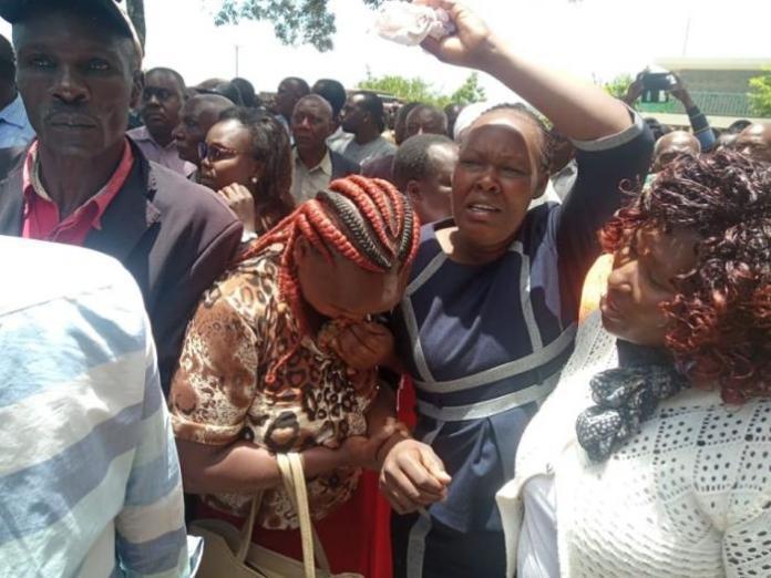 Family photo of Slain Police Sergeant Kipyegon Kenei at Umash Funeral Home on March 6, 2020