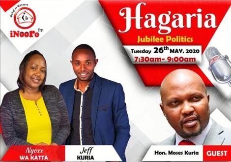 Moses Kuria inooro FM interview poster