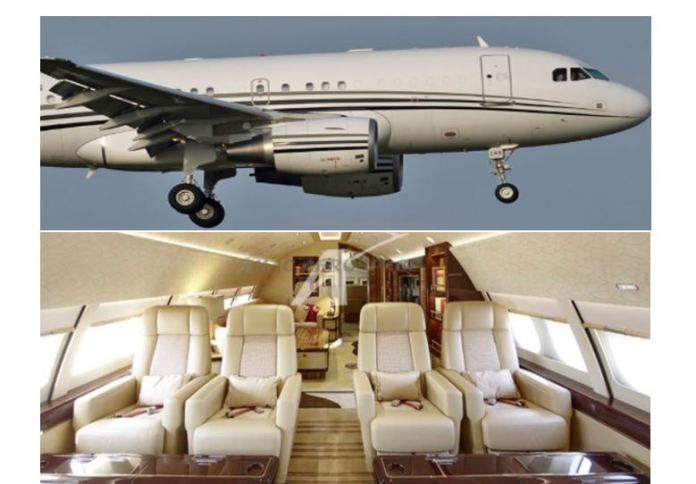 Revealed: Raila private luxurious jet landed at JKIA, taxied to the Presidential Pavilion