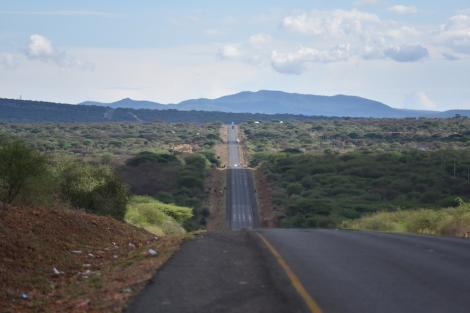 File image of a section of the Nairobi-Namanga Road