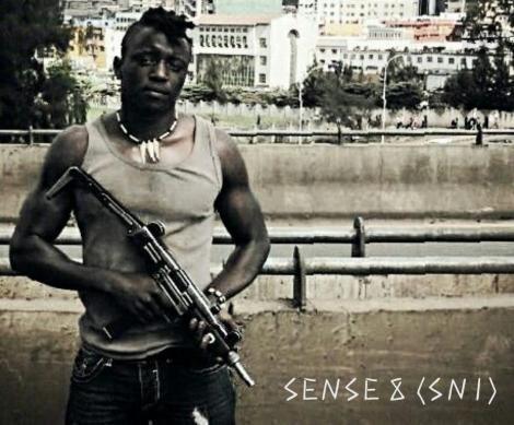 Actor Emmanuel Mugo on the set of Sense 8