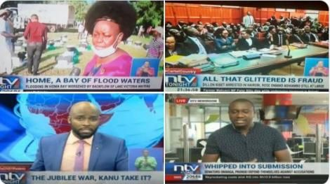 A screenshot of the NTV headlines
