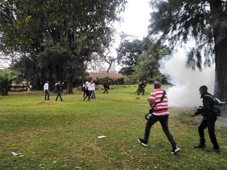 Police disperse protesters demonstrating against government corruption at Uhuru Park, Nairobi on Friday, August 21, 2020