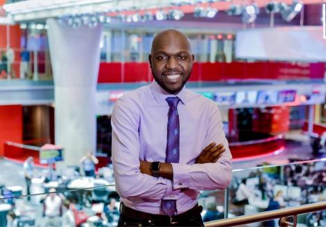 File image of Larry Madowo at BBC headquarters in London, United Kingdom