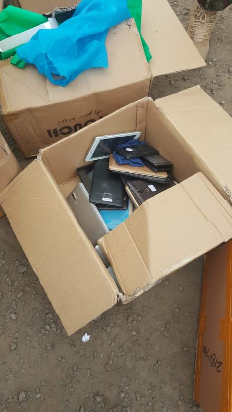 Phones confiscated from street fraudsters in Nairobi in a recent operation