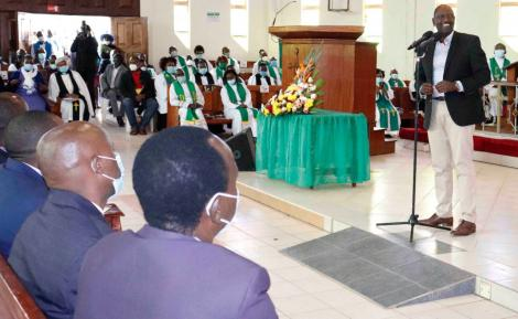 Deputy President William Ruto addresses a congregation in Machakos on September 6, 2020
