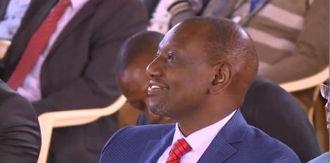 Deputy President William Ruto pictured at the Full Gospel Gatunduri Church in Embu on February 23, 2020.