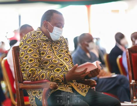 President Uhuru Kenyatta at the National Prayer Day at State House on October 10, 2020