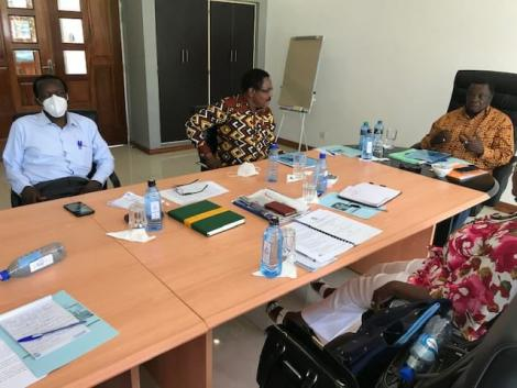 COTU Secretary General Francis Atwoli in a meeting with Masinde Muliro University officials on October 17, 2020