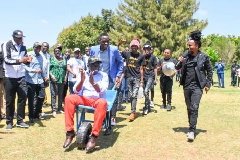 Deputy President William Ruto pictured in Dagoretti South on September 29, 2020.