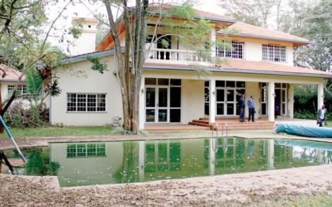 A view of the Ksh310 million house put up for the Chief Justice.