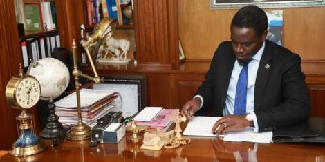 LSK President Nelson Havi in his office