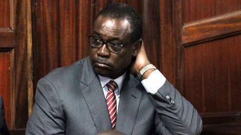 Former Nairobi Governor Evans Kidero at Milimani Courts on October 02, 2018