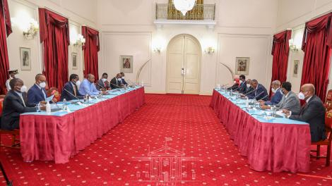 Bilateral talks held between Kenyan and Somaliland delegations on Monday, December 14, 2020.